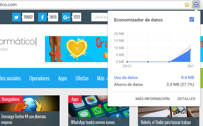 Imagen - Carga las páginas más rápido y ahorra datos en Chrome para ordenadores