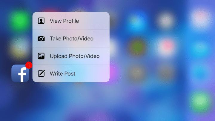 Imagen - Facebook mejora 3D Touch en su app para iPhone