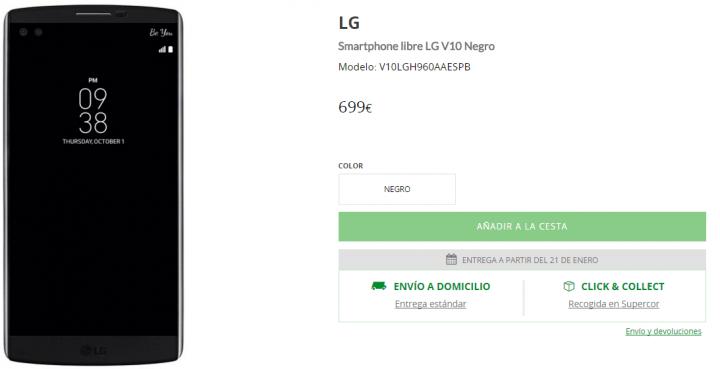 Imagen - Dónde comprar el LG V10 en España