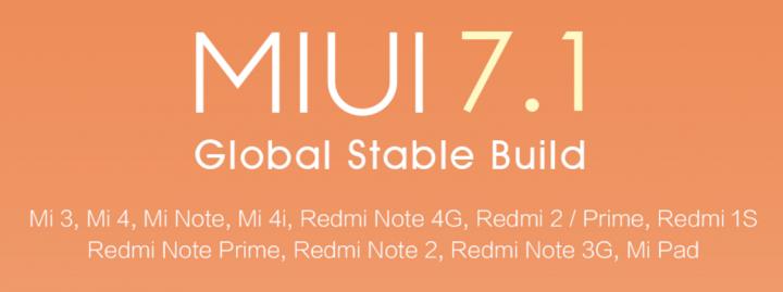 Imagen - Lista de móviles Xiaomi que recibirán MIUI 7.1