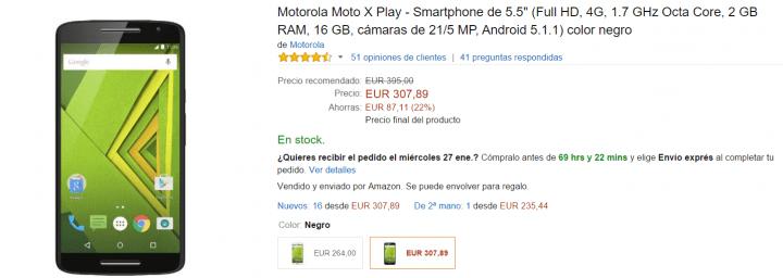 Imagen - Motorola Moto X Play rebaja su precio un 22% en Amazon