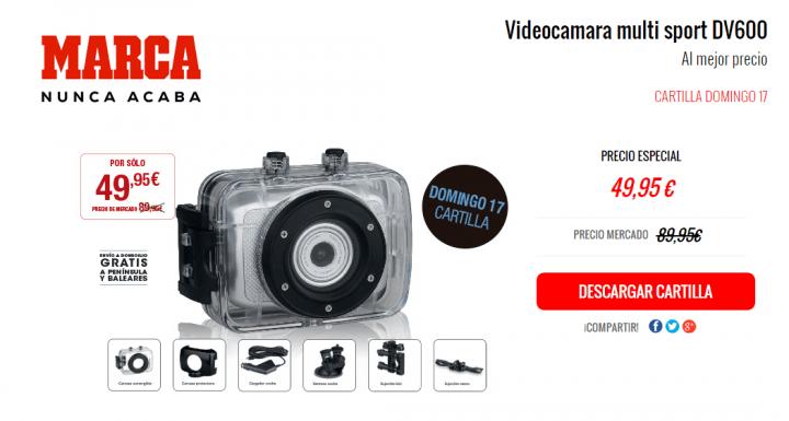"""¿Merece la pena la videocámara multi sport DV600 de """"Domingo cartilla""""?"""