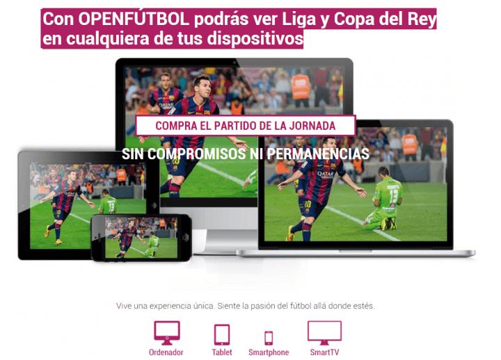 Imagen - OpenFútbol, visualiza online partidos de la Liga y Copa