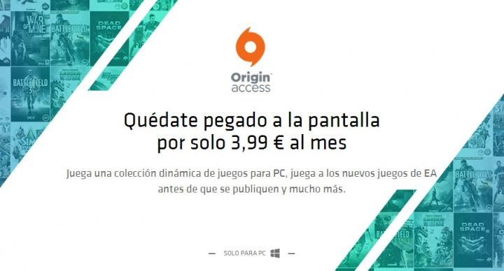 Origin Access, tarifa plana de videojuegos para PC por 3,99 euros al mes