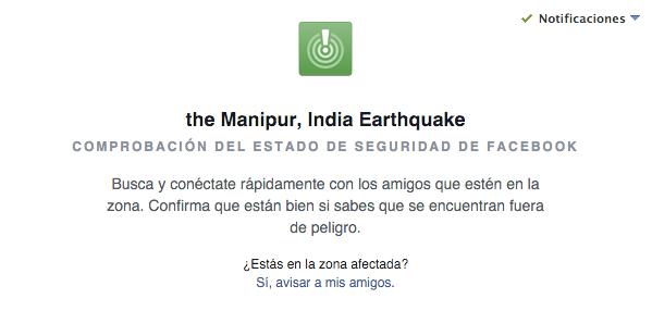 Imagen - Facebook activa Safety Check en el terremoto de India