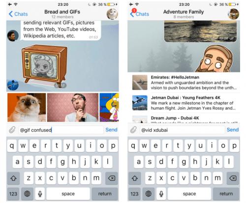Imagen - Telegram añade novedades centradas en GIFs y bots