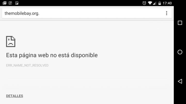 Imagen - The Pirate Bay no funciona en el móvil