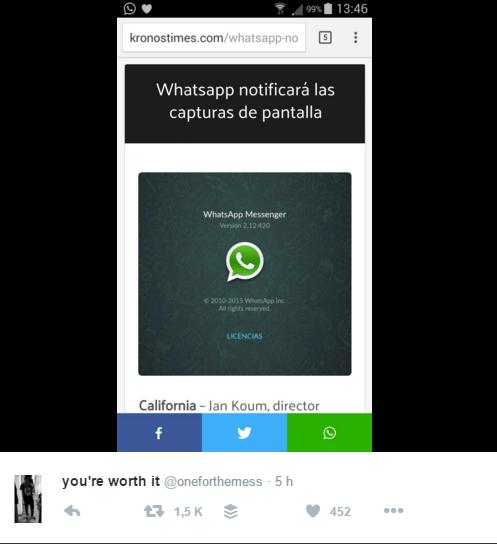 Imagen - WhatsApp no mostrará con quién hablas ni avisará de capturas de pantalla
