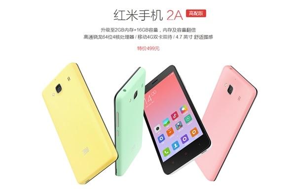 Imagen - Xiaomi Redmi 2A se actualiza a un procesador Qualcomm