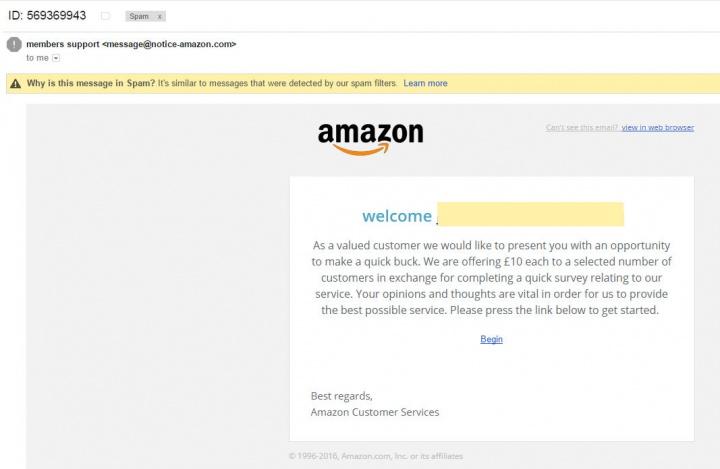 Imagen - Una falsa encuesta de Amazon pretende robarte