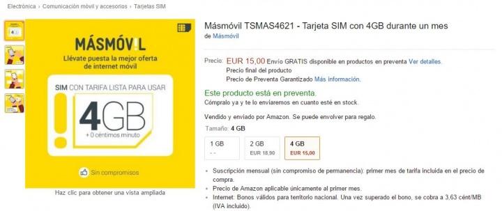 Imagen - MásMóvil ya se puede contratar desde Amazon