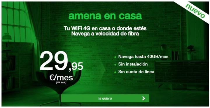 Imagen - Amena en casa reduce la tarifa a 40 GB al mes