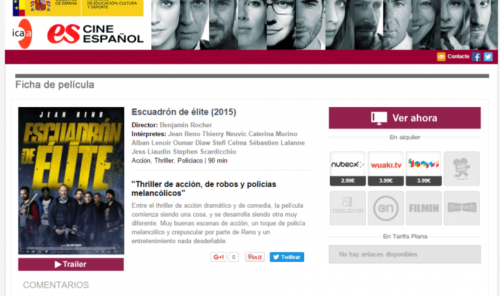 Imagen - El Gobierno lanza un buscador y comparador de películas online