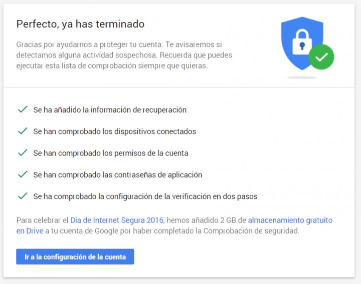 Imagen - Añade 2 GB a Google Drive revisando los ajustes de seguridad