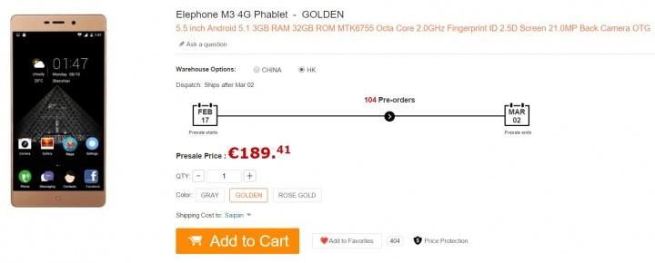 Imagen - Dónde comprar el Elephone M3