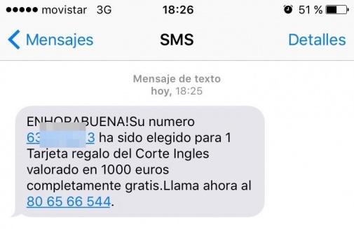 Imagen - Cuidado con la estafa que regala 1.000 euros en El Corte Inglés