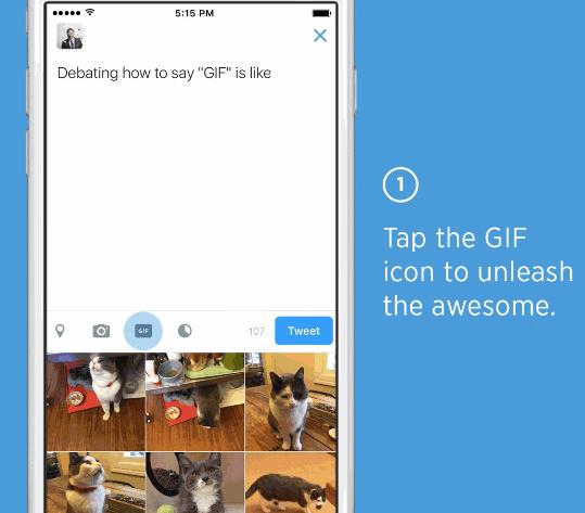 Imagen - Twitter añade un botón para enviar GIFs