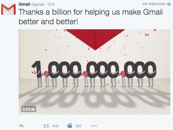 Imagen - Gmail supera los 1.000 millones de usuarios