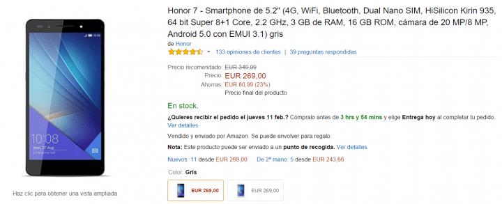Imagen - Honor 7 en oferta hoy por menos de 300 euros