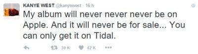 Imagen - El último disco de Kanye West rompe récords de piratería por su exclusiva con Tidal