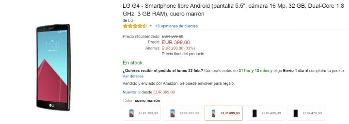 Imagen - Samsung Galaxy S6 por 412 euros y LG G4 por 399 antes del MWC