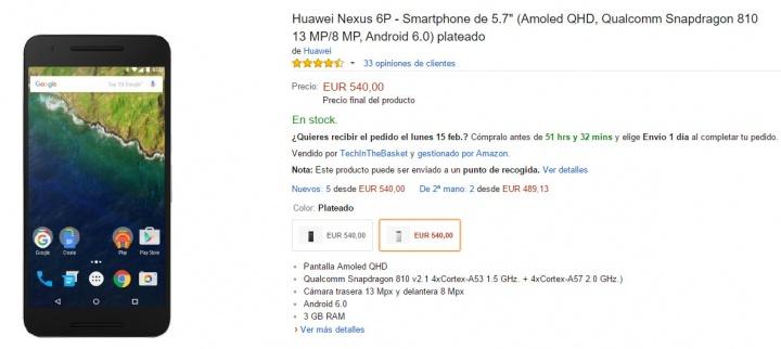 Imagen - Oferta: Nexus 6P más barato todavía en Amazon