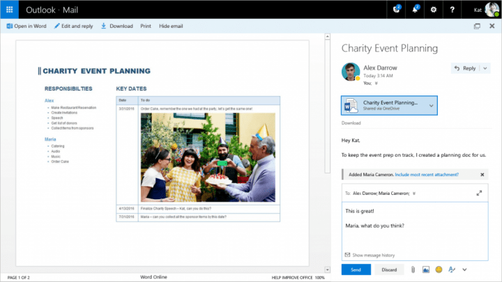 Imagen - Outlook.com mejora incluyendo menciones, complementos y más