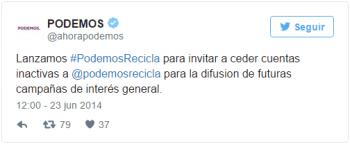 Imagen - Podemos ha sido descubierto haciendo spam político en Twitter