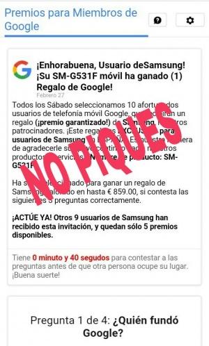 Imagen - Cuidado con el mensaje que te regala un Samsung SM-G531F