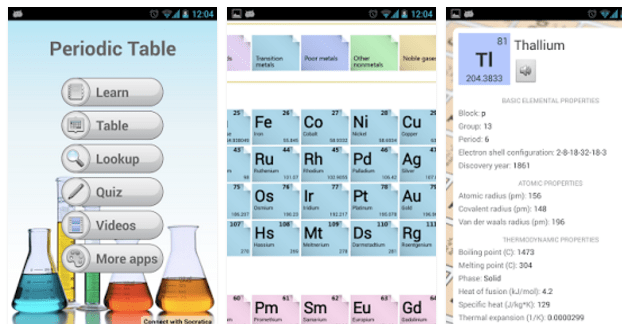 imagen 5 apps para consultar la tabla peridica - Tabla Periodica De Los Elementos Quimicos Y Sus Aplicaciones