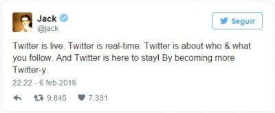 Imagen - Twitter seguirá con un timeline cronológico