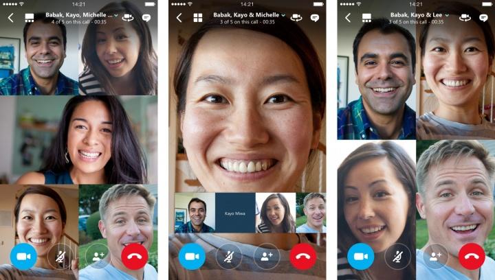 Imagen - Las videollamadas grupales llegan a Skype para iOS y Android