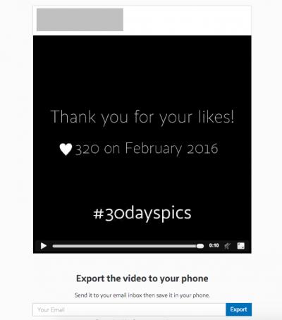 Imagen - 30dayspics, crea un álbum con las últimas 30 fotos de Instagram