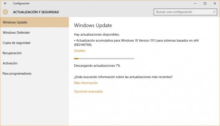 Imagen - La actualización KB3140768 falla al instalarse en Windows 10