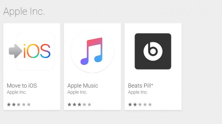 Todas las aplicaciones de Apple para Android