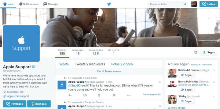 Imagen - El soporte técnico de Apple abre cuenta en Twitter