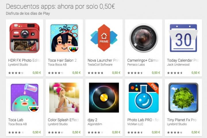 Imagen - Google Play en oferta: juegos y apps a 50 céntimos