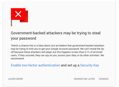 Imagen - Gmail te avisará si un gobierno intenta espiarte