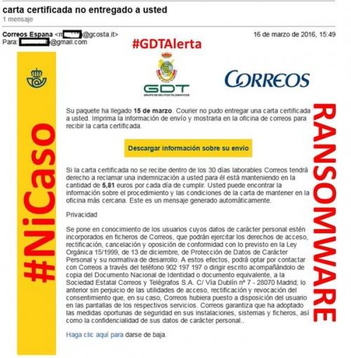 Imagen - Un nuevo email suplanta a Correos, ¡no abras el archivo adjunto!