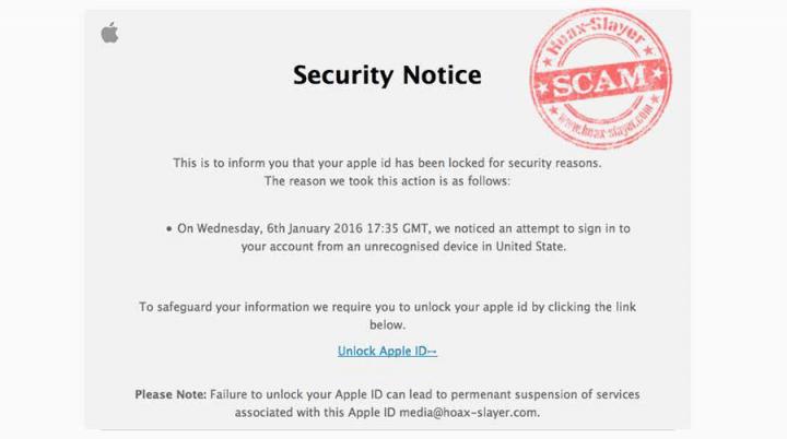 Imagen - Un supuesto email de Apple roba tu contraseña