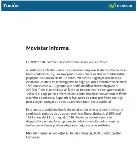 Imagen - Movistar Fusión cobrará el exceso de datos a las tarifas móviles