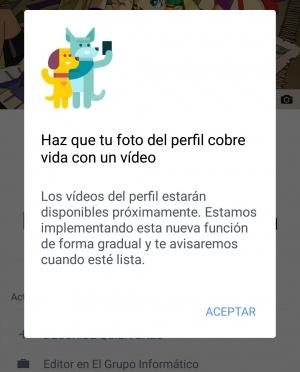 Imagen - Facebook para Android ya permite poner vídeos de perfil