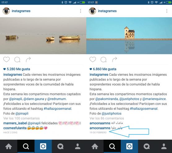 Imagen - ¿Dónde está la fecha de publicación en Instagram? La última actualización la cambia