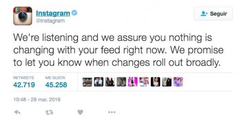 Imagen - Instagram todavía no está cambiando en el timeline