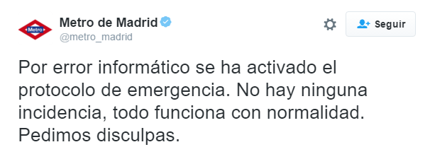 Imagen - Un error informático desaloja el Metro de Madrid