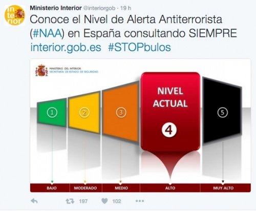 El gobierno desmiente los bulos de atentado que circulan Gobierno de espana ministerio del interior