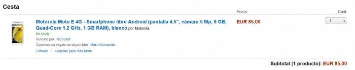 Imagen - Motorola Moto E en oferta por menos de 90 euros