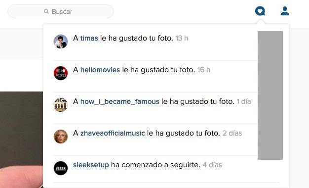 Imagen - Instagram mejora la versión web con notificaciones y lista de seguidores