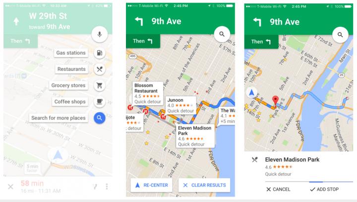 Imagen - Google Maps para iOS añade sitios donde parar