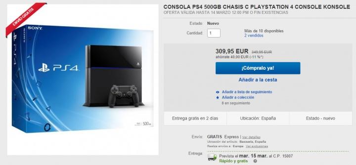 Imagen - La PlayStation 4 más barata: 310 euros en una oferta de eBay
